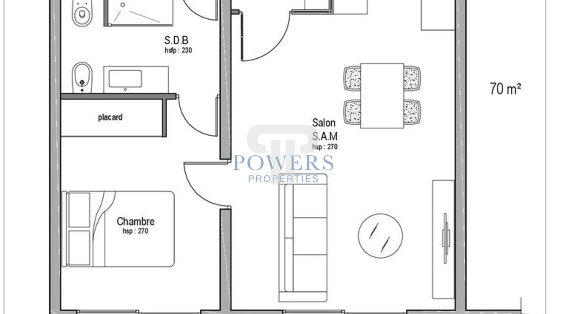 3 room apartment with private garden
